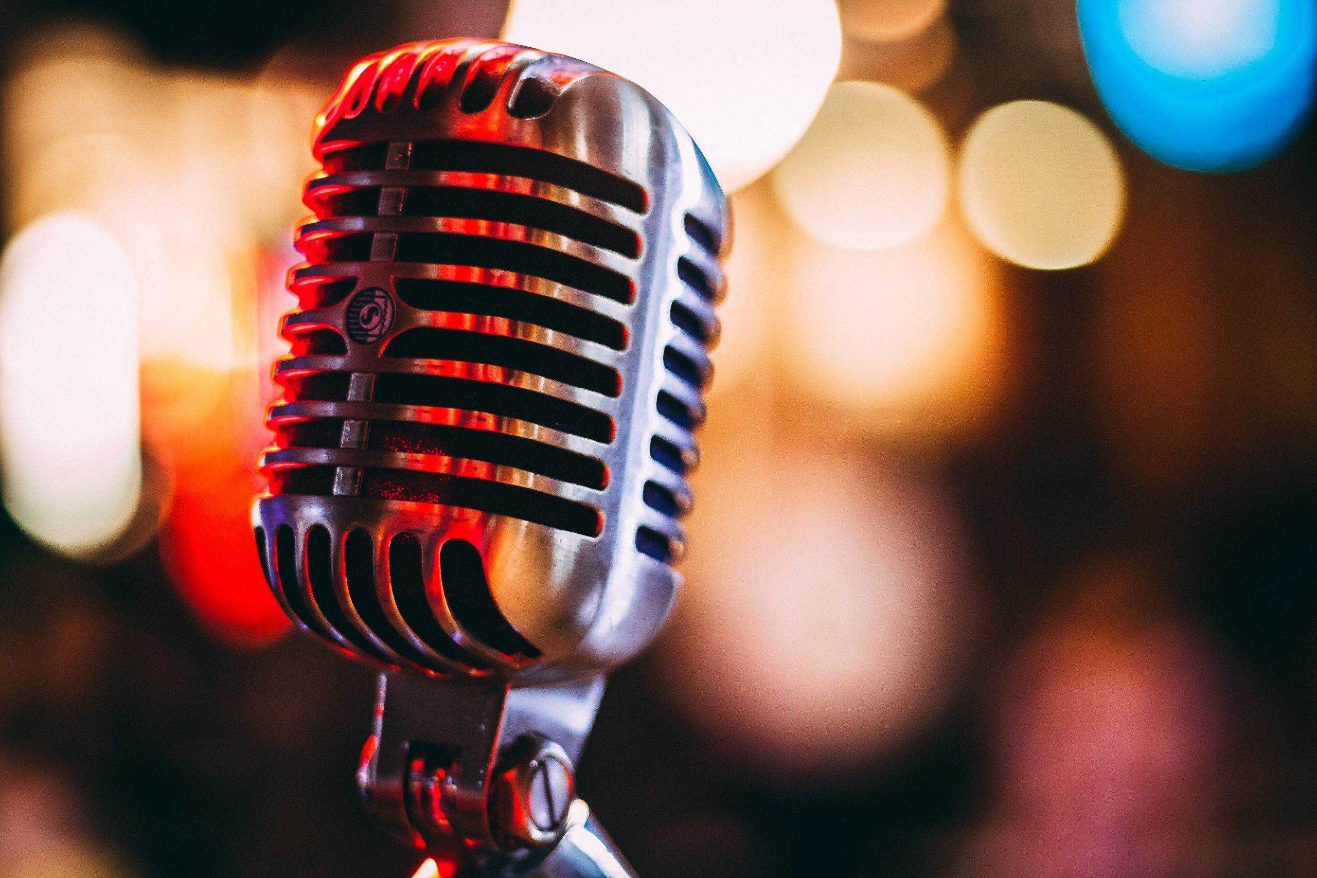 Microphone to symbolise amplifying a brand tone of voice