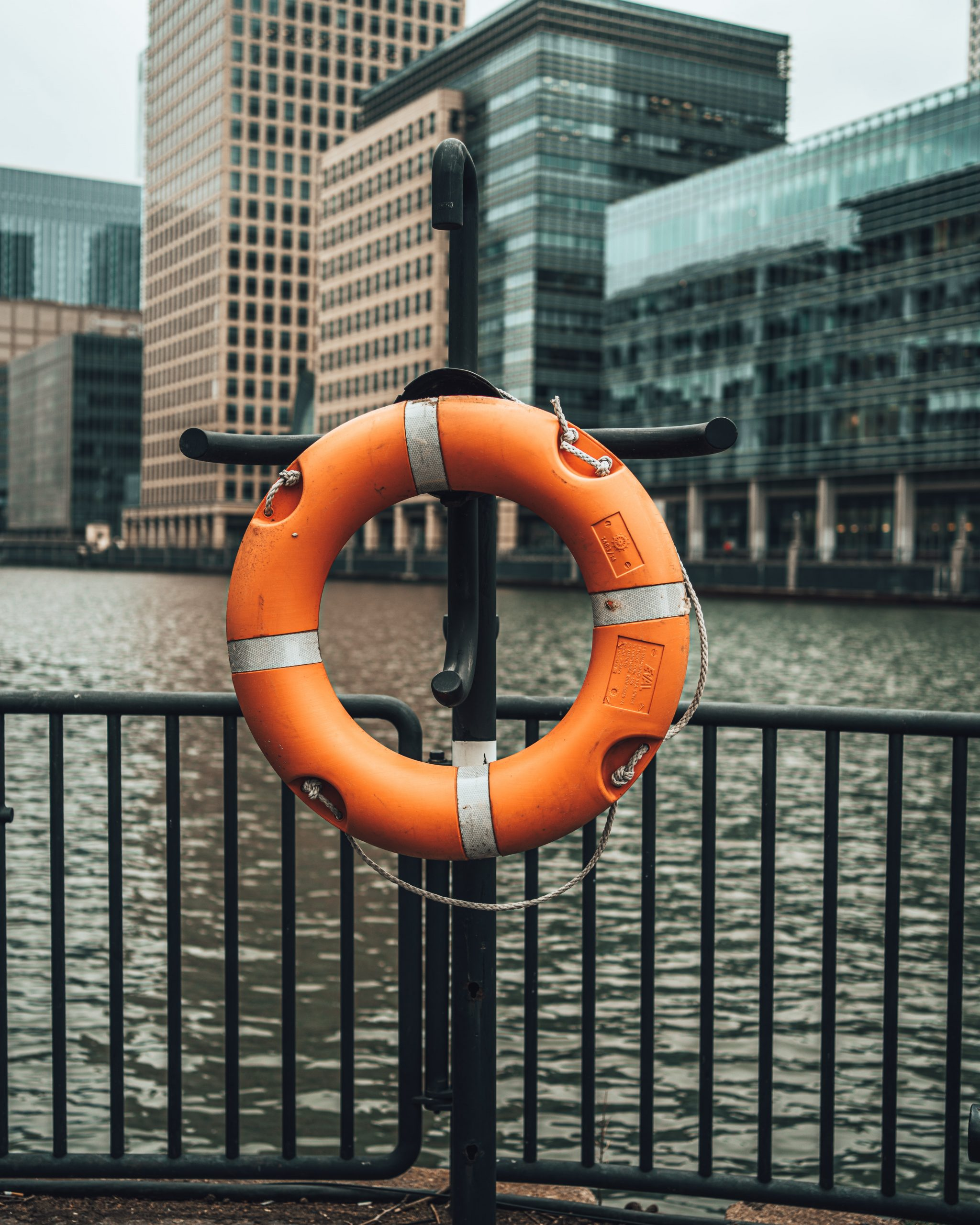 Life Ring Buoy to illustrate the notion of drowning, being overwhelmed by communications